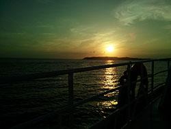 篠島発、船からの景色