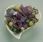 誕生日プレゼントに紫のお花のアレンジ