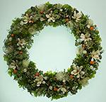 グリーン系のお花のリース