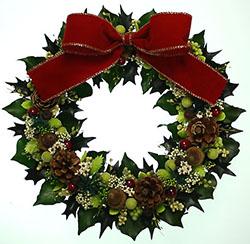 2013年ヒイラギのクリスマスリース