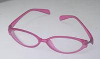 ピンクのメガネ
